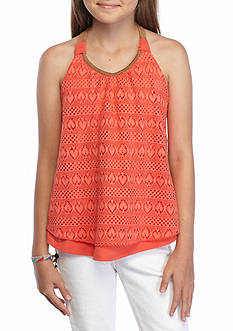 Belle du Jour Suede Back Crochet Top Girls 7-16