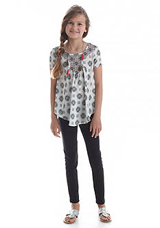 Belle du Jour 2-Piece Printed Tunic and Legging Set Girls 7-16