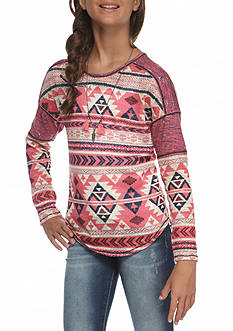 Belle du Jour Tribal Printed Top Girls 7-16