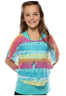Belle du Jour Stripe Circle Top Girls 7-16
