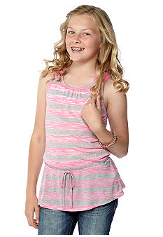 Self Esteem Stripe Crochet Peplum Tank Girls 7-16