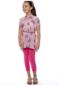 Belle du Jour Rose Tunic Legging Set Girls 7-16