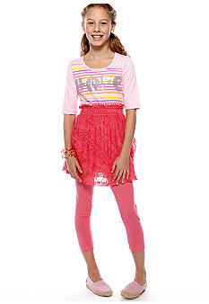 Belle du Jour Hope Crochet Legging Set Girls 7-16