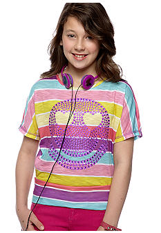 Belle du Jour Smiley Tee with Headphones Girls 7-16