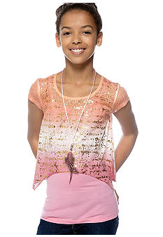 Belle du Jour Dipdye Necklace Top Girls 7-16