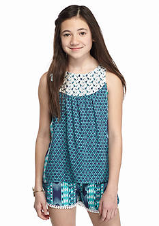 Red Camel 2-Piece Floral Chally Tank and Shorts Set Girls 7-16