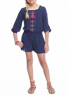 Red Camel Front Embroidered Romper Girls 7-16