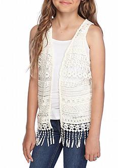 Red Camel Crochet Vest Girls 7-16