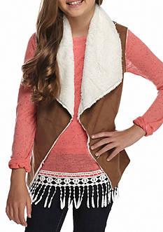 Red Camel Faux Suede Vest Girls 7-16