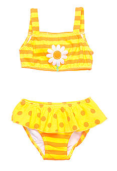 Sweet Potatoes Bee Ruffle 2-piece Swimsuit Girls 4-6X