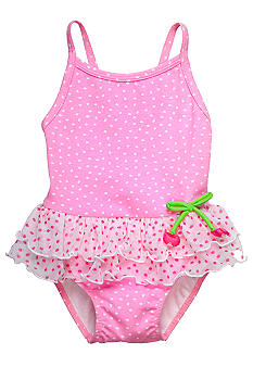 Sweet Potatoes Cherry Ruffle 1-piece Swimsuit Girls 4-6X