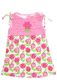Sweet Potatoes Tie Shoulders Pink Posie Coverup Girls 4-6X
