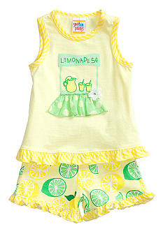 Sweet Potatoes Lemonade Short Set Girls 4-6X