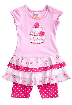 Sweet Potatoes Tier Dress and Dot Pedal Pusher Girls 4-6X