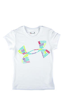 Under Armour Icon Fonts Tee Girls 4-6X