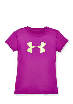 Under Armour Short Sleeve Big Glitter Logo Top Girls 4-6x