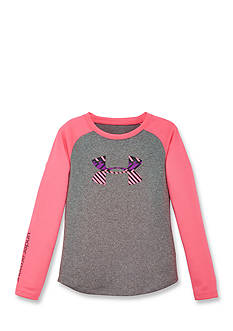 Under Armour Zig Zag Big Logo Raglan Tee Girls 4-6x