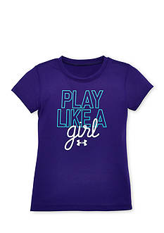 Under Armour 'Play Like a Girl' Tee Girls 4-6x