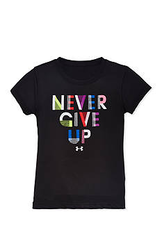 Under Armour Short Sleeve 'Never Give Up' Tee Girls 4-6x