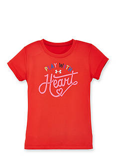 Under Armour Short Sleeve 'Play With Heart' Tee Girls 4-6x
