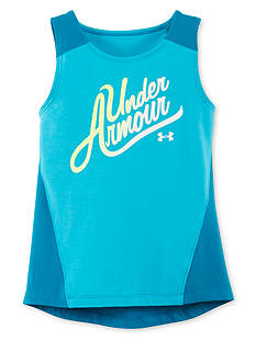 Under Armour Logo High Low Tank Top Girls 4-6x