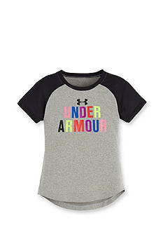Under Armour Short Sleeve Logo Tee Girls 4-6x