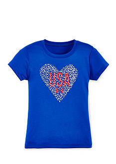 Under Armour Heart USA Tee Girls 4-6x