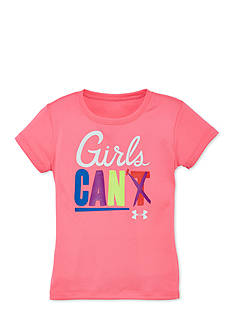Under Armour Short Sleeve 'Girls Can' Tee Girls 4-6x