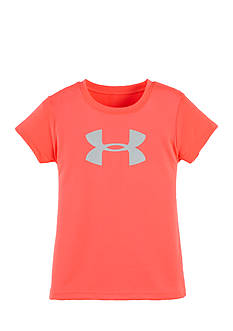 Under Armour Pink Logo Tee Girls 4-6x
