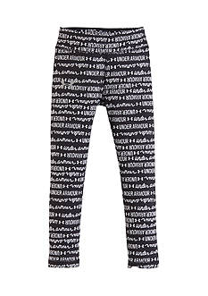 Under Armour Black and White Script Leggings