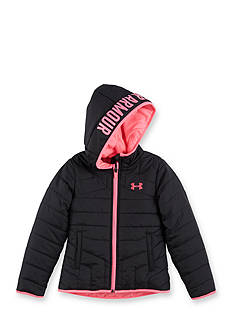 Under Armour Black Puffer Jacket Girls 4-6x