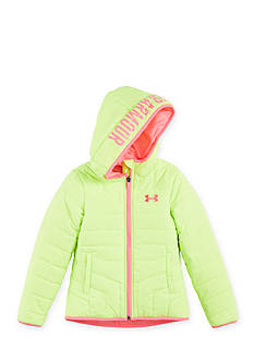 Under Armour Green Puffer Jacket Girls 4-6x