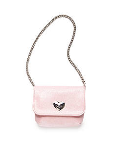 Capelli New York Glitter Heart Turn Lock Bag