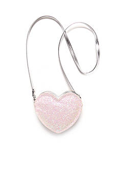 Capelli New York Glitter Heart Crossbody Bag