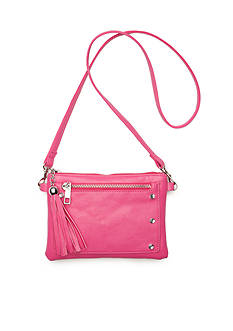 Capelli New York Crossbody Bag With Decorative Zipper