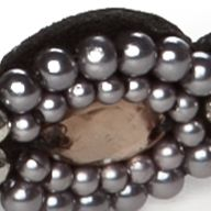 Toddler Hair Accessories: Black Capelli New York Pearl and Gem Head Wrap