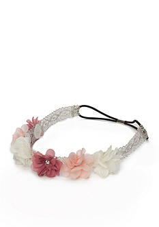 Capelli New York Floral Metallic Crochet Head Wrap
