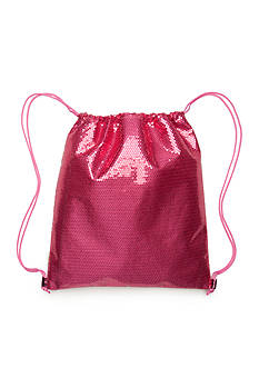 Capelli New York Sequin and Metallic Drawstring Backpack