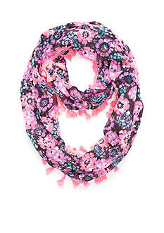 Capelli New York Happy Floral Loop Scarf