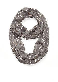 Capelli New York Rose Gold Splattered Loop Scarf
