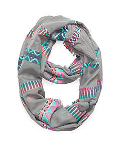 Capelli New York Mosaic Striped Jacquard Loop Scarf