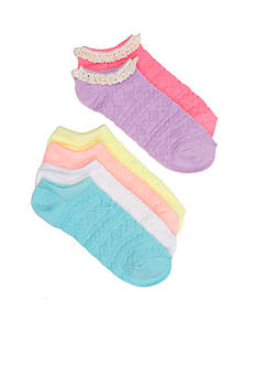 Capelli New York 6-Pack Textured Socks Girls 4-16