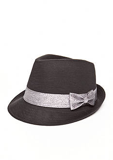 Capelli New York Marled Jersey Trilby With Fine Glitter Fedora Hat