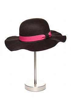 Capelli New York Faux Felt Floppy Hat