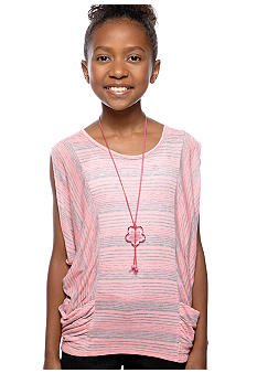 Speechless Neon Stripe Necklace Top Girls 7-16