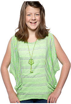 Speechless Neon Stripe Necklace Top Girls Plus