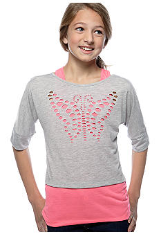 Speechless Butterfly Laser Cut Top Girls 7-16