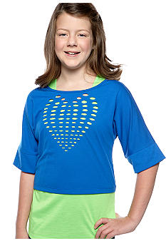 Speechless Heart Laser Cut Top Girls Plus