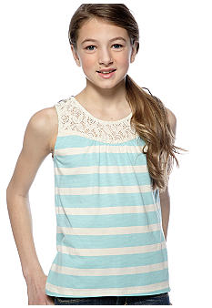 Speechless Stripe Lace Top Tank Girls 7-16