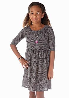 Speechless Sweater Knit Necklace Dress Girls 7-16